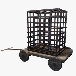 inquisition cage wagon 3D model