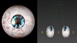 rigged eyeballs 3D model