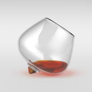 whisky glass spin 3D model