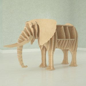 elephant cutting 3D model