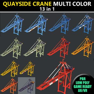 3D 2 color quayside crane