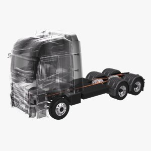 electric truck chassis x-ray 3D