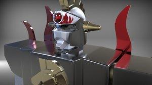 3D king star model