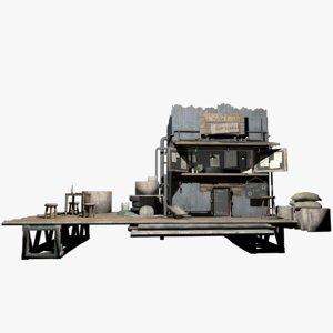3D model old diner