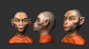 3D hanuman sadhu model