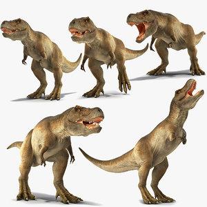 3D tyrannosaurus rex animal