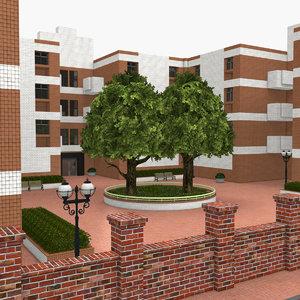 residential area 3D model