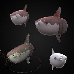 mola fish toon animation 3D