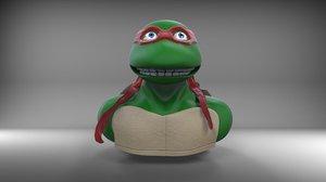3D model ninja turtle