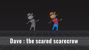3D model scarecrow
