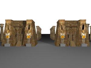 pharaonic temple egypt model