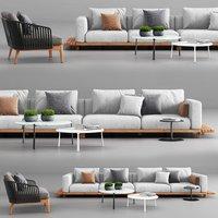 Tribu Vis a Vis Sofa and Mood Club Chair
