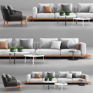 tribu vis sofa mood 3D model