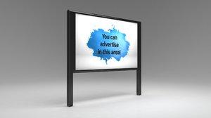 3D designed advertising billboard