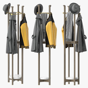 porada igor coat rack 3D