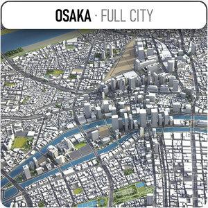 city osaka surrounding - model