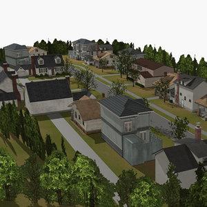 residential community area model