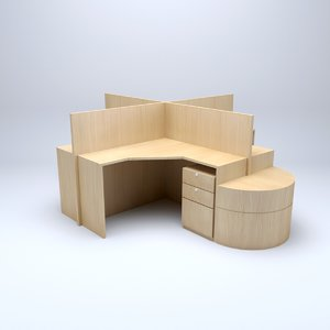 3D office cubicle