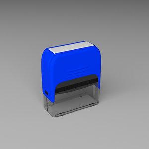 self inking stamp model