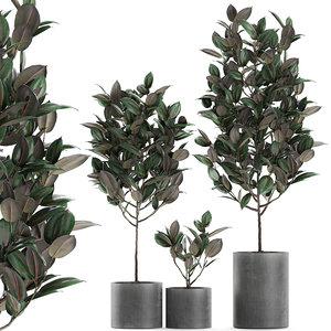 3D decorative trees interior pots
