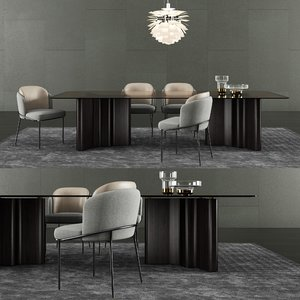 3D minotti lou dining table