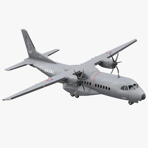 airbus c295 twin turboprop 3D model