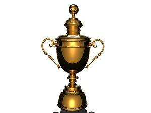 3D winner champignons trophy model