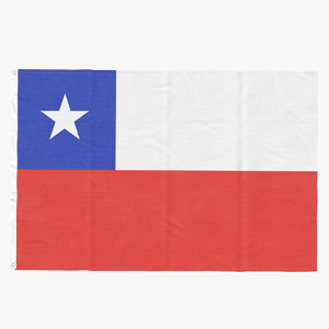 3D flag laying pose chile