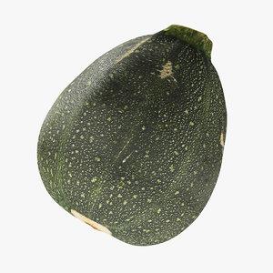 green zucchini 3D