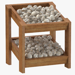 3D wooden merchandise shelf 02