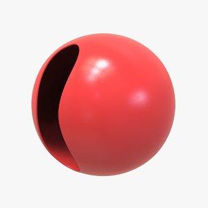 3D red clown nose
