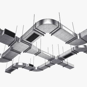 3D ventilation ceiling model
