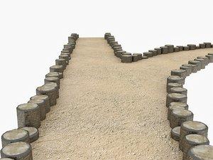 sandy road stump borders model