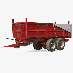 3D body tipper trailer model