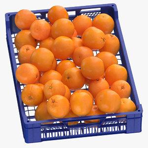 3D postharvest tray oranges
