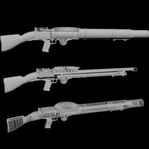 3D lewis gun 01 model