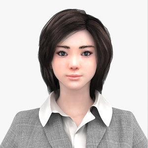 3D irin costume woman characters