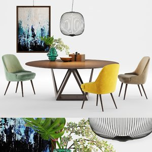 walter knoll tobu dining table 3D