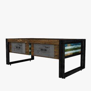 3D model modeled table