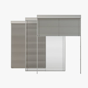 venetian blinds rails x 3D