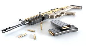 fn scar-l assault rifle model