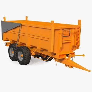 3D body tipper trailer clean