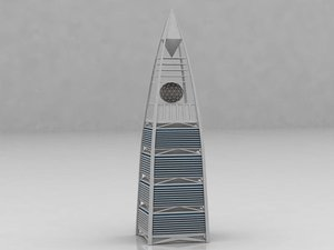 fasaliya tower riyadh saudi arabia 3D model
