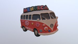3D menorca island magnet souvenir
