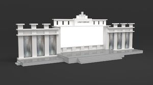 stage screen artdeco 3D model