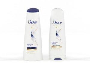 3D model dove nutritive solutions shampoo