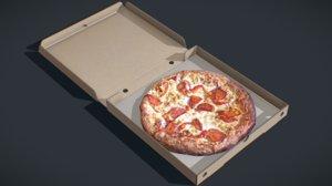 perfect pizza box 3D model