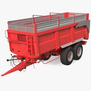 agricultural tipper trailer clean 3D model