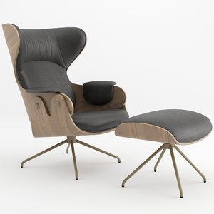 3D lounger bd barcelona model