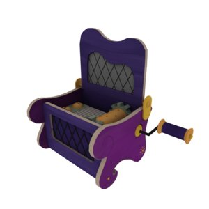 3D music box model